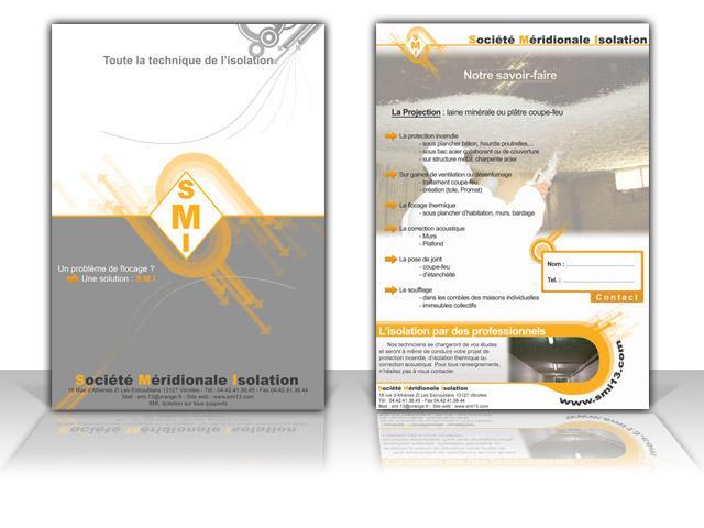 Impression Cartes De SMI Cration Dune Plaquette Commerciale Recto Verso Couleur
